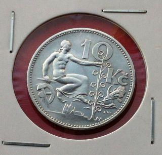 Czechoslovakia Silver Coin - 10 Korun 1931 - Republika Československa photo