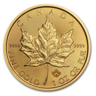 1 Oz 2016 Gold (canada) Canadian Maple Leaf $50 Bu photo