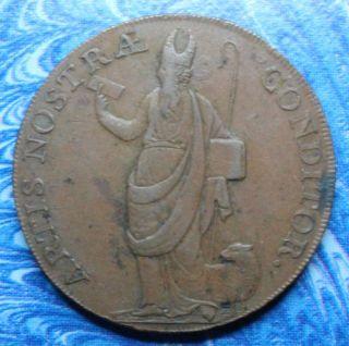 1791 Great Britain Yorkshire Leeds Half Penny Conder Token D&h 52 photo
