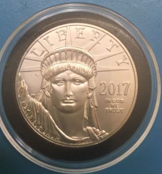 2017 1 Oz Platinum American Eagle $100 Coin Bu photo