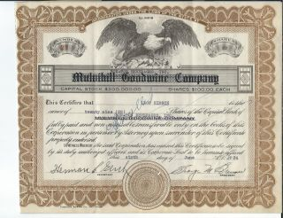 Mf - 029 - Bon - Ton Beverages,  Stock Certificate,  1934,  Waukesha,  Wisconsin Canceld photo