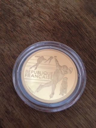 1989 - 1991 France Proof Gold 500 Francs Winter Olympics photo