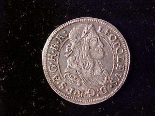 Austria 3 Kreuzer 1671 Leopold Hogmouth,  Tyrol photo