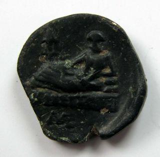 Odessos_thrace Bronze Circa 350 - 300b.  C.  Rare 3.  80g/16mm Green Patina M - 775 photo
