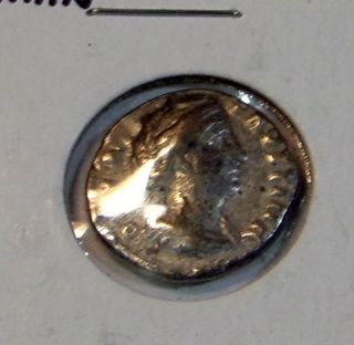 Ancient Roman Unknown Silver Coin 16.  71mmin Size photo
