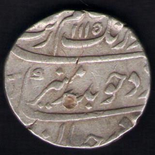 Mughals - Aurangzeb - Surat - Ah:1115/ry:48 - One Rupee - Rarest Silver photo