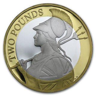 2015 Definitive Britannia £2 Silver Proof W/ Ogp (renaissance Two Pound Uk Gb) photo