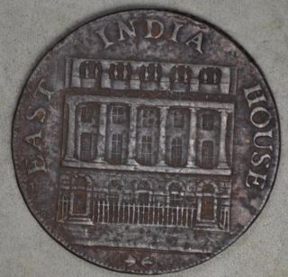 Great Britain 1793 Half Penny Token - East India House photo