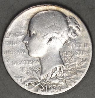 Great Britain 1897 Silver Medal - Queen Victoria 60 Year Jubilee photo
