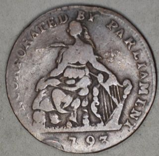 Ireland 1793 Half Penny Token - Camc Ryan And Camc photo
