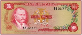 Jamaica 50 Cents 1970 (p - 53a) A Real Beauty photo