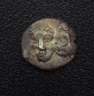 Moesia,  Istrus 4th Century B.  C.  Silver Hemiobol - Obverse Inverted Heads - Ngc Vf photo