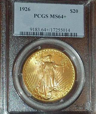 1926 $20 Saint Gaudens Pcgs Ms64, photo
