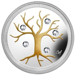 2014 Canada $3 Fine Silver Coin - Jewel Of Life photo