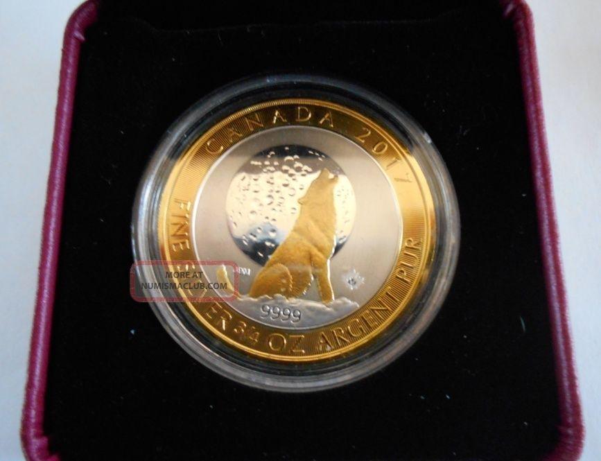 Canada 2017 3 4 Oz Ounce Canadian Silver Wolf Moon Coin