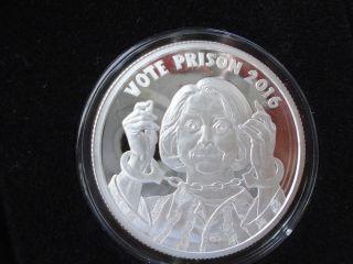 Vote Prison Proof One Troy Oz 999 Silver Art Round Silver Shield 1100 Mintage photo