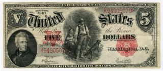 1907 Issue $5 Dollars United States