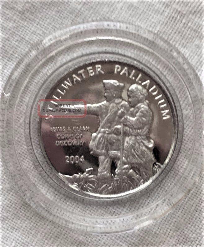 2004 Stillwater Palladium 1/10 Oz.  9995 Fine Bullion photo