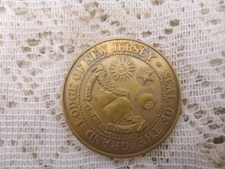 Masonic American Revolution Bicentennial Observance Bronze Coin Jersey Lodge photo