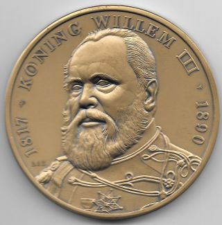 Modern Dutch Medal Issued To Honor King Willem Iii (1817 - 1890) By Riks Munt photo