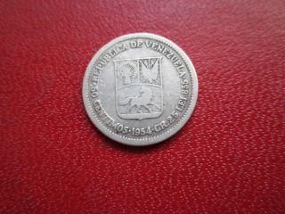 Venezuela 50 Centimos 1954 Silver photo