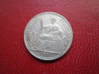 French Indo - Chine 1937 10 Cent.  Silver photo