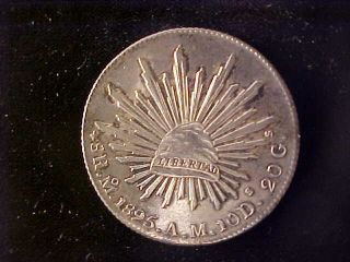 Cap & Rays 8 Reales 1895 Mo Am photo