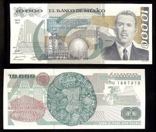 Mexico P - 90a Banco De Mexico 10,  000 Pesos Mj - U,  24.  2.  1987 Unc photo