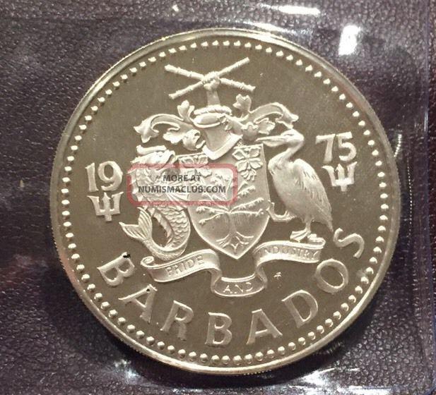 1975 Silver Barbados Five Dollar Coin Proof