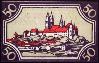 Meissen Nd - 1920 50 Pf Circulating German Notgeld Sachsen photo