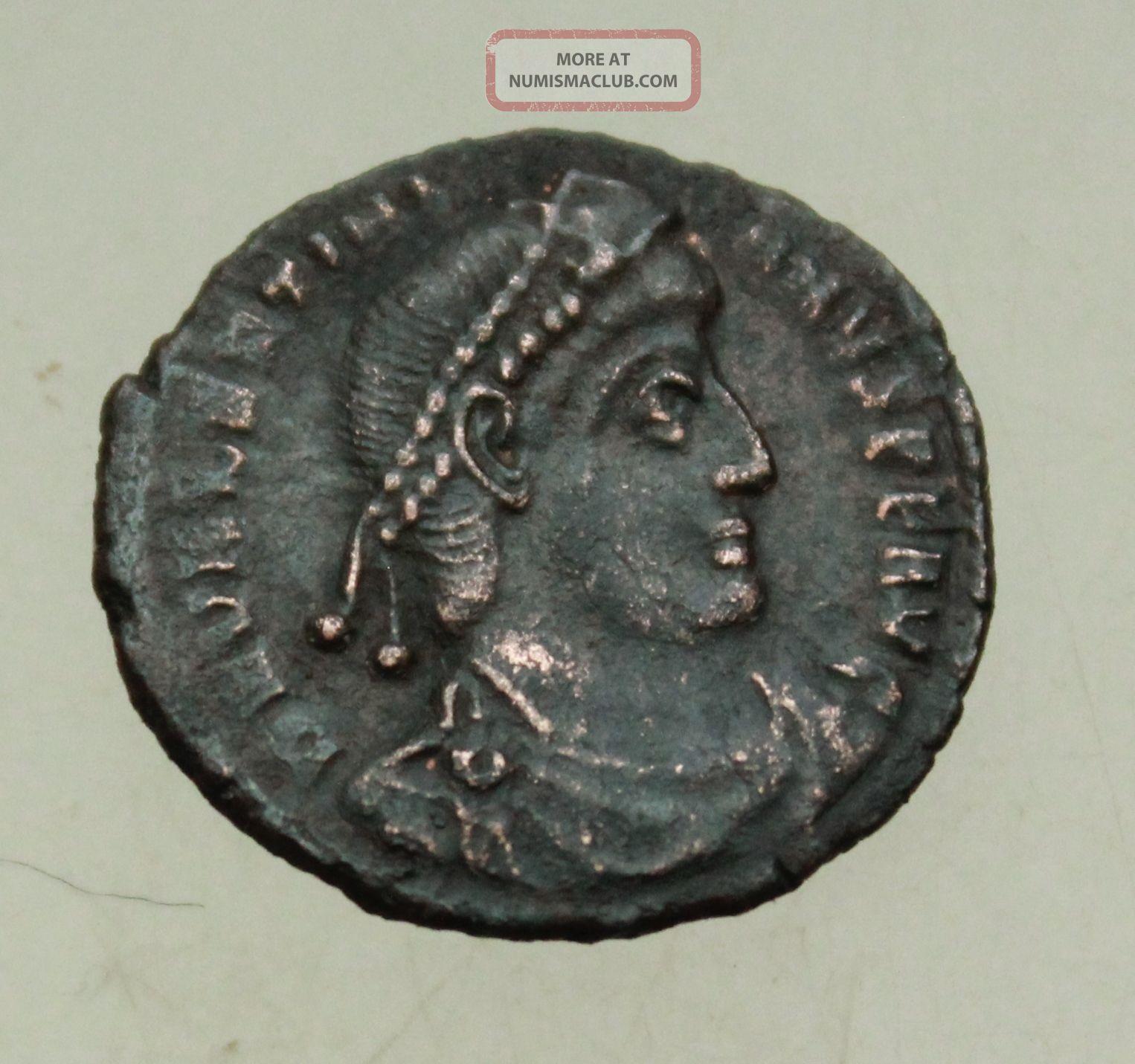 L6 Valentinianus I Ae Follis Gloria Romanorum Siscia Rare 2.  4g Tma Coins: Ancient photo