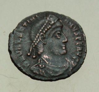 L6 Valentinianus I Ae Follis Gloria Romanorum Siscia Rare 2.  4g Tma photo