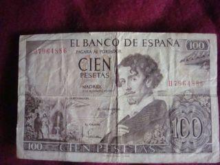 El Banco De Espana Money Cien 100 Pesetas photo