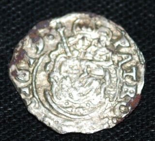 1619 Hungary Silver Denar - Matthias - 14mm/0.  42g - Madonna&child - Mary&christ - Tvc photo