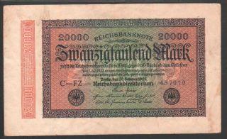 Germany 20000 Mark 1923 Reichsbanknote - Series: 457070 photo