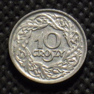 Old Coin Of Poland 10 Groszy 1923 Second Republic photo