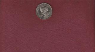 Thomas Johnson 1788 State Of Maryland Medal Silver Tone Finish 1 1/4 Inch Diam. photo