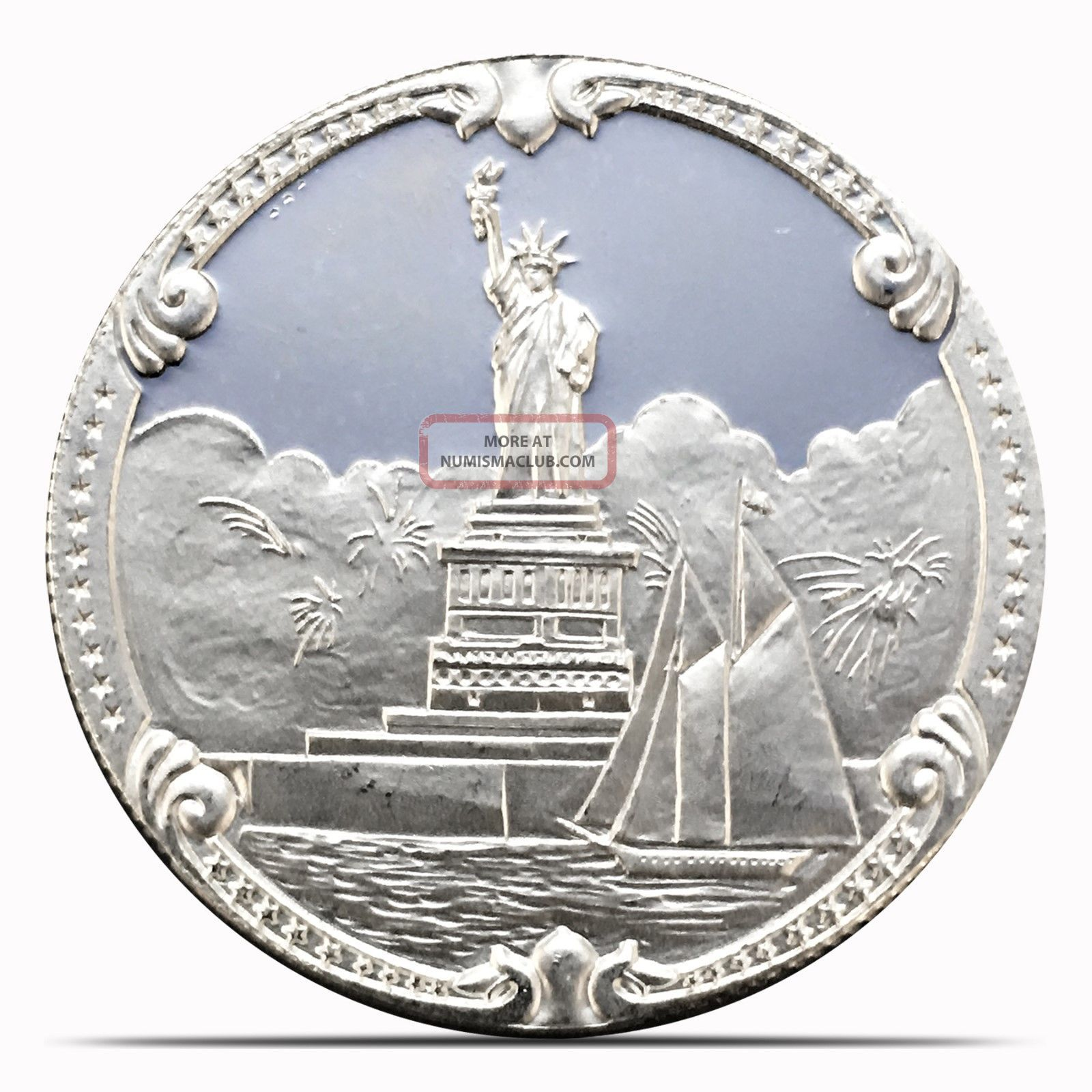 1986 Lady Liberty Series Rarites 1 Ozt.  999 Silver Coin Low Mintage (2108) Silver photo