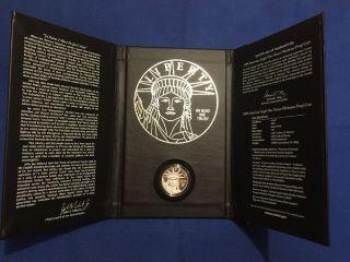 2009 - W Platinum Eagle Us $100 1 Oz Proof (preamble Series W/ Box) photo