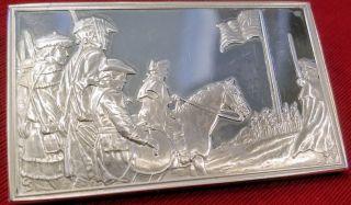 2.  0 Oz Silver Art Bar.  925 Pure