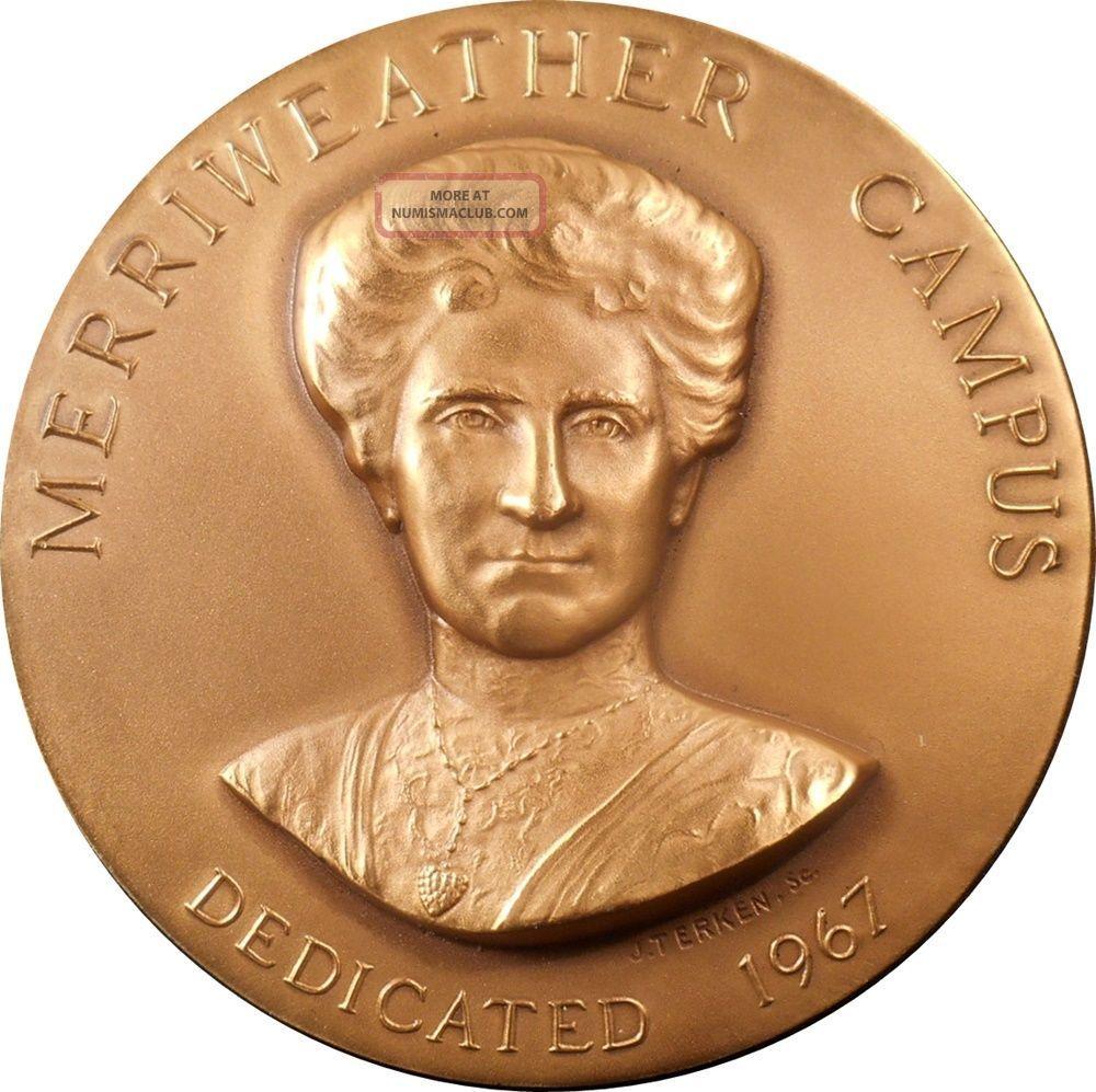 1967 Long Island U [ella] Merriweather Campus Dedication Ae Medal By John Terken Exonumia photo