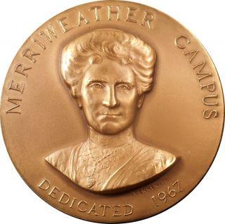 1967 Long Island U [ella] Merriweather Campus Dedication Ae Medal By John Terken photo