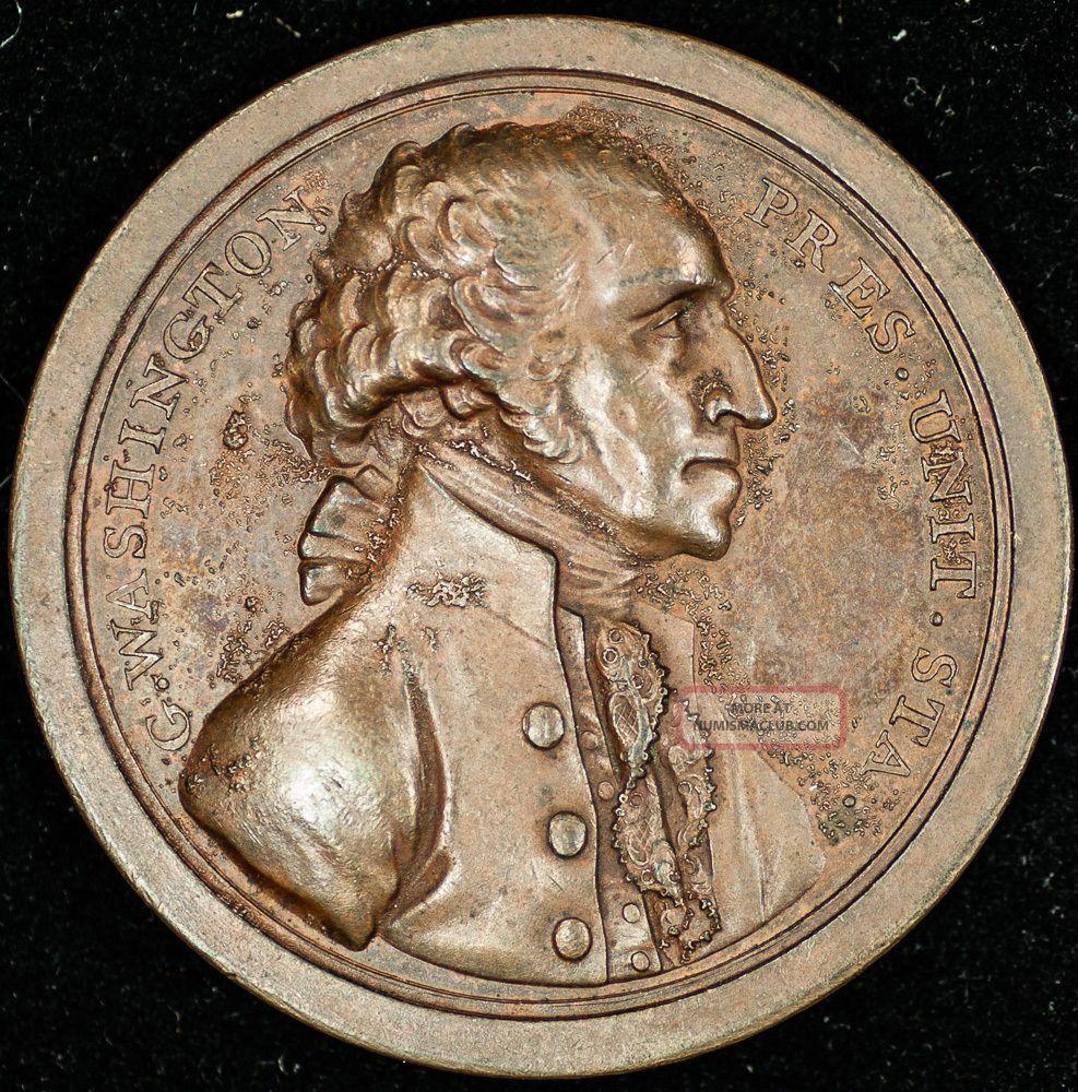 George Washington Presidency Relinquished Medal - Dies Exonumia photo