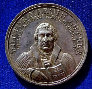 Prussia,  Reformation Tri - Centennial Silver Medal 1817,  Martin Luther By Loos. photo