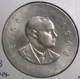 Ireland 10 Shilling 1966, .  833 Silver,  Unc photo