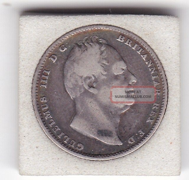 1834 King William Iv Sixpence (6d) Sterling Silver British Coin UK (Great Britain) photo