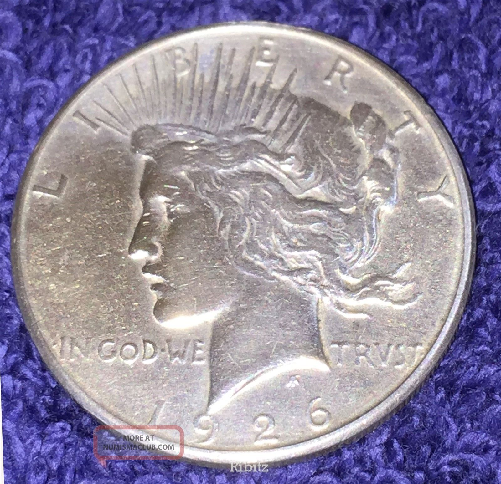 Us Peace Silver Dollar Coin $1.  00 - 1926 - S - Peace (1921-35) photo
