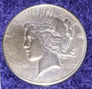 Us Peace Silver Dollar Coin $1.  00 - 1926 - S - photo