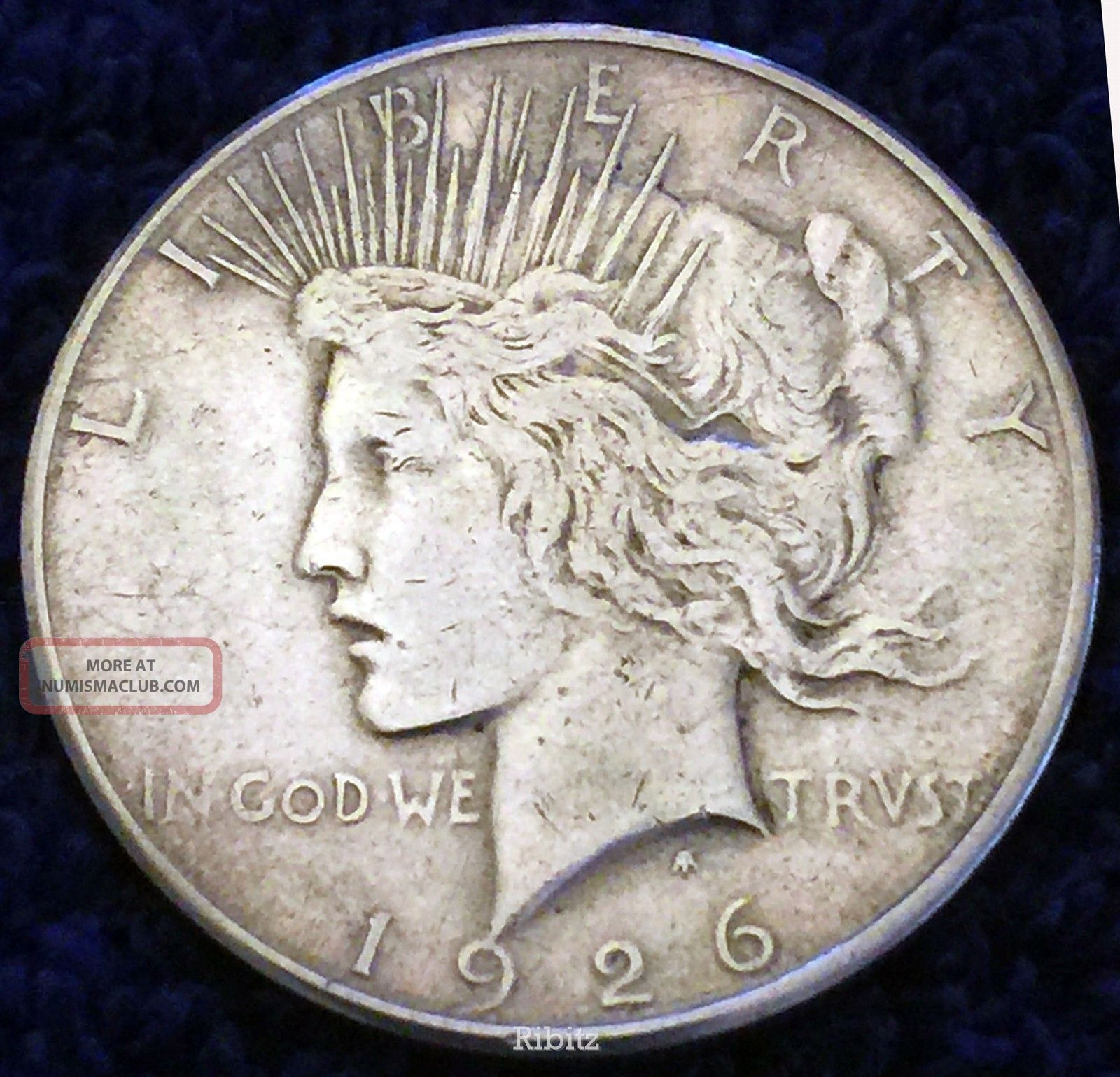 Us Peace Silver Dollar Coin 1 00 1926 S