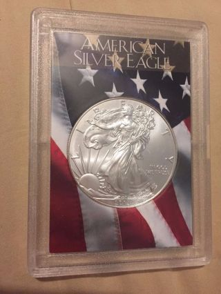 2001 S$1 American Silver Eagle One Dollar Coin - Ms 69 photo